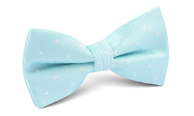 The OTAA Mint Blue with White Polka Dots Bow Tie