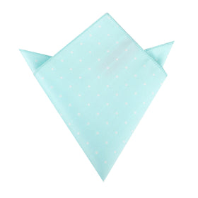 The OTAA Mint Blue with White Polka Dots Pocket Square