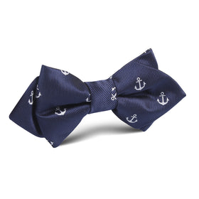 The OTAA Navy Blue Anchor Diamond Bow Tie