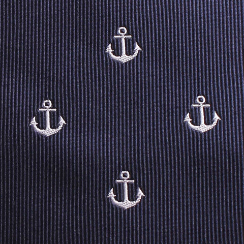 The OTAA Navy Blue Anchor Pocket Square