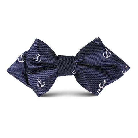 The OTAA Navy Blue Anchor Kids Diamond Bow Tie