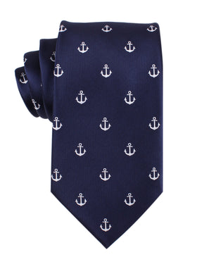 The OTAA Navy Blue Anchor Necktie