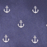 The OTAA Navy Blue Anchor Fabric Skinny Tie M044