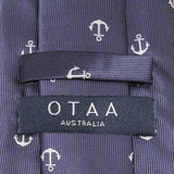 The OTAA Navy Blue Anchor Skinny Tie OTAA Australia
