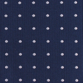 The OTAA Navy Blue with White Polka Dots Bow Tie