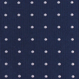 The OTAA Navy Blue with White Polka Dots Fabric Self Tie Bow Tie M131