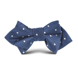 The OTAA Navy Blue with White Polka Dots Kids Diamond Bow Tie