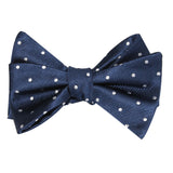 The OTAA Navy Blue with White Polka Dots Self Tie Bow Tie 1