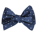 The OTAA Navy Blue with White Polka Dots Self Tie Bow Tie 2