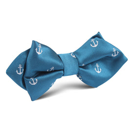 The OTAA Teal Blue Anchor Diamond Bow Tie