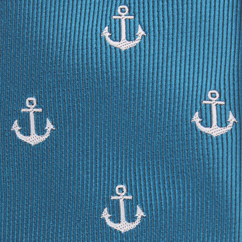 The OTAA Teal Blue Anchor Kids Bow Tie