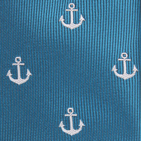 The OTAA Teal Blue Anchor Pocket Square