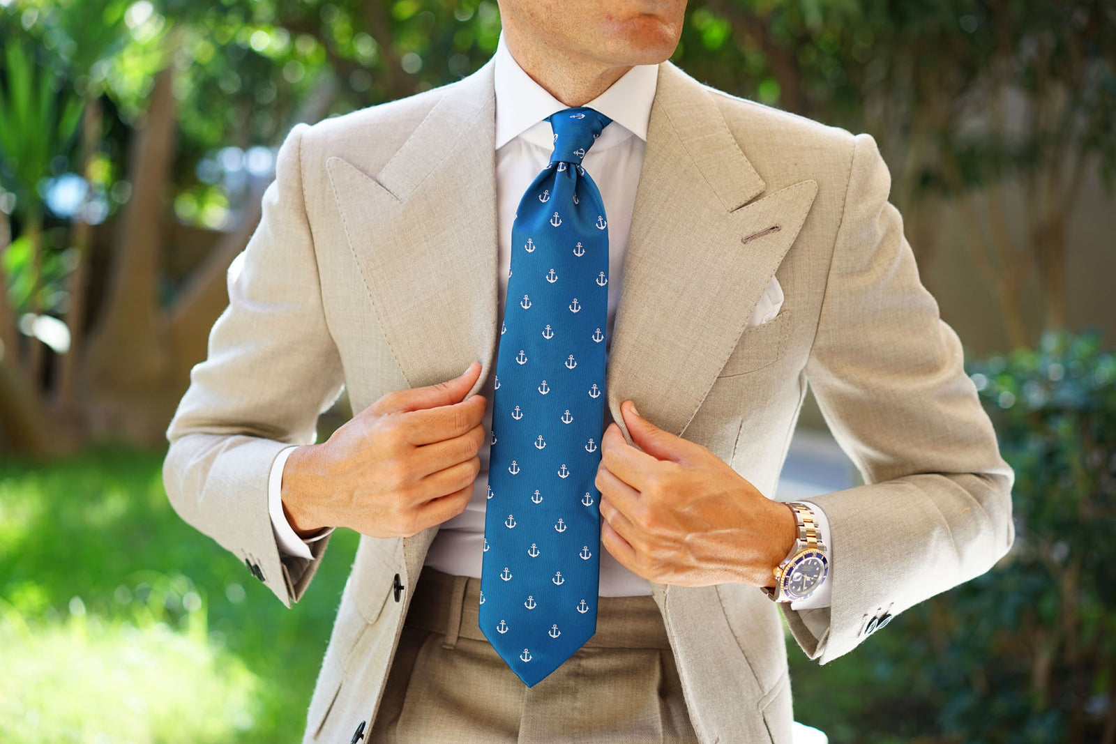 The OTAA Teal Blue Anchor Necktie
