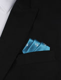 The OTAA Teal Blue Anchor Oxygen Three Point Pocket Square Fold