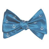 The OTAA Teal Blue Anchor Self Tie Bow Tie 1