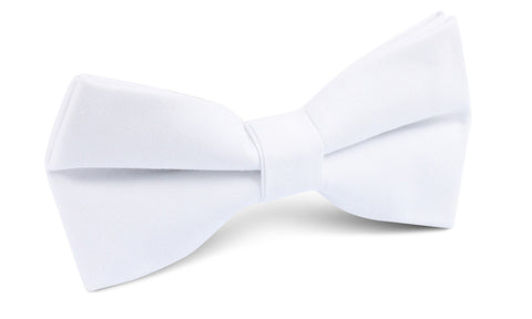 The OTAA White Cotton Bow Tie