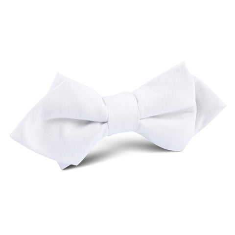 The OTAA White Cotton Diamond Bow Tie