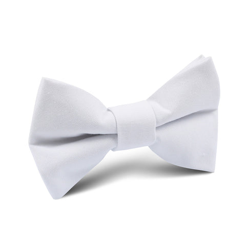 The OTAA White Cotton Kids Bow Tie