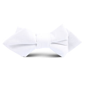 The OTAA White Cotton Kids Diamond Bow Tie
