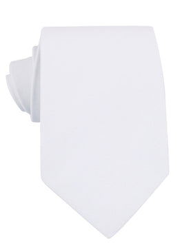 The OTAA White Cotton Necktie
