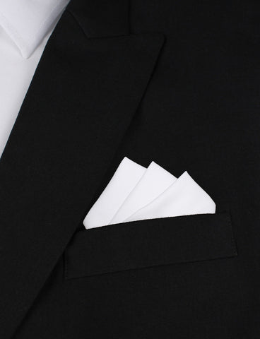 The OTAA White Cotton Pocket Square