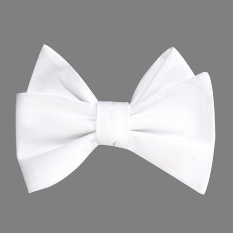 The OTAA White Cotton Self Tie Bow Tie