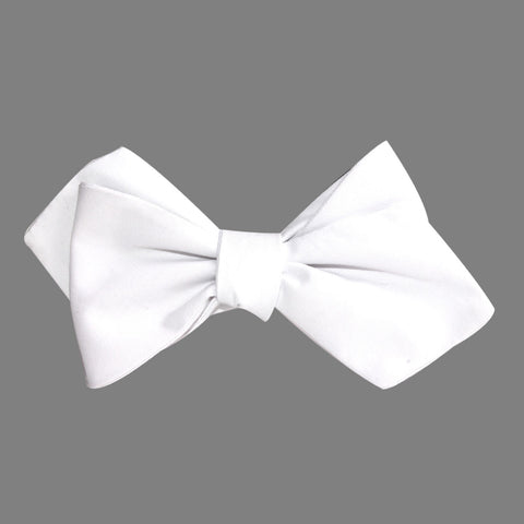 The OTAA White Cotton Self Tie Diamond Tip Bow Tie