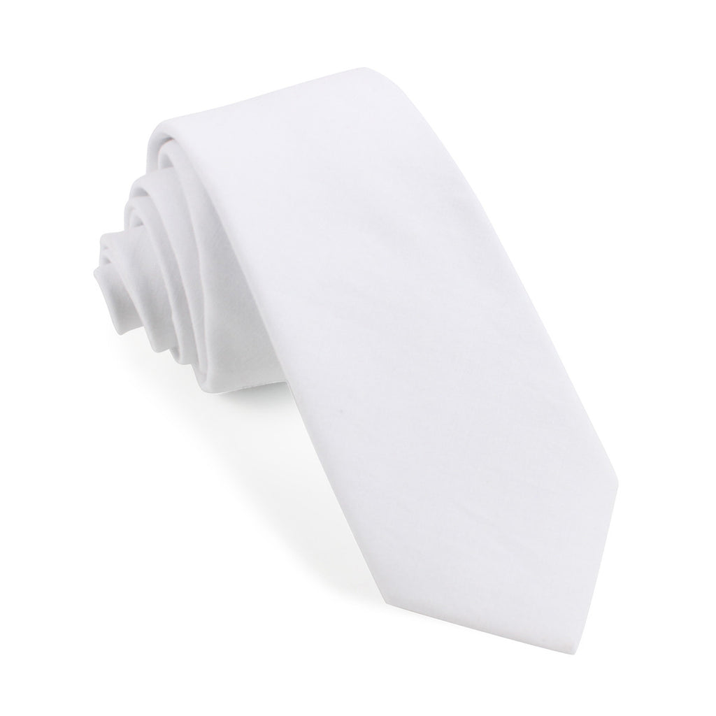 The OTAA White Cotton Skinny Tie