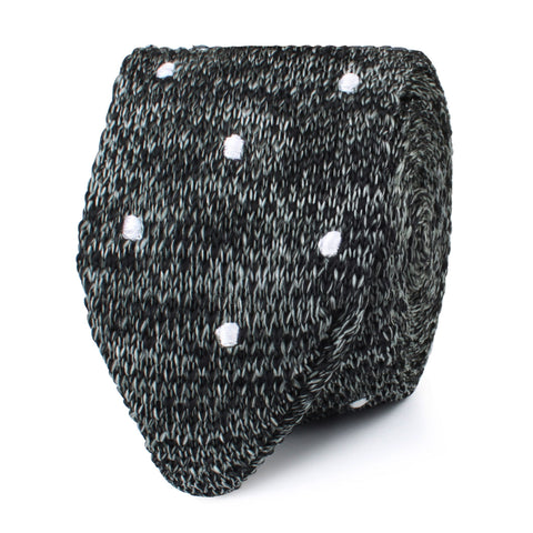 The Raven Polka Dot Knitted Tie