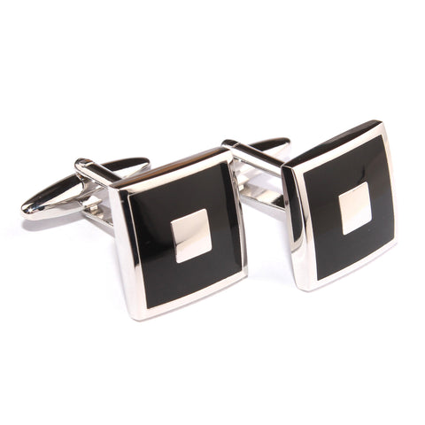 The Sean Connery James Bond Black Cufflinks