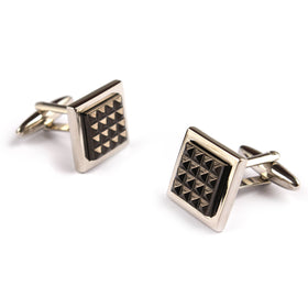 The Silver with Gun Egyptian Pyramids Cufflinks