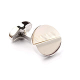 The Silver with White Marble Cufflinks Middle OTAA
