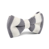 The White Walker Grey Knitted Bow Tie