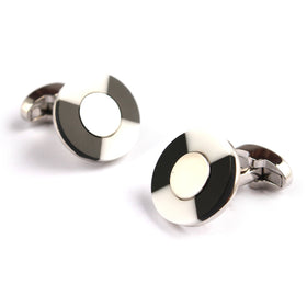 The Zebra Black White Marble Cufflinks
