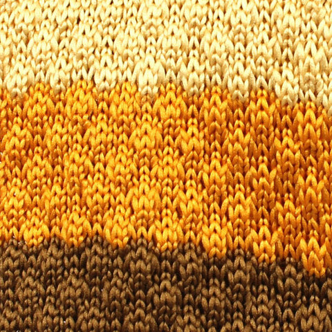 Three Shades of Yellow Knitted Tie