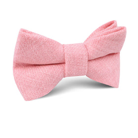 Tickled Pink Chevron Linen Kids Bow Tie