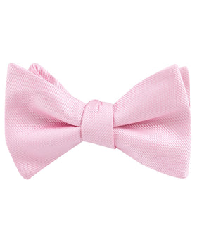 Tickled Pink Weave Self Bow Tie