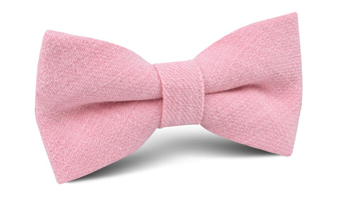 Tickled Pink Chevron Linen Bow Tie