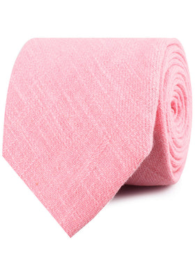 Tickled Pink Chevron Linen Necktie