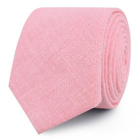 Tickled Pink Chevron Linen Skinny Tie