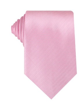 Tickled Pink Herringbone Chevron Necktie