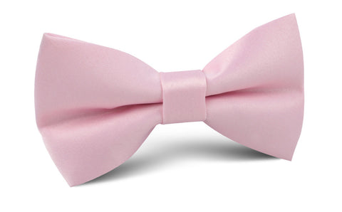 Tickled Pink Satin Bow Tie