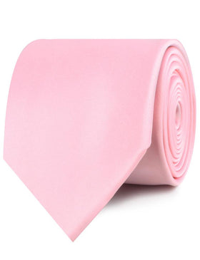 Tickled Pink Satin Necktie