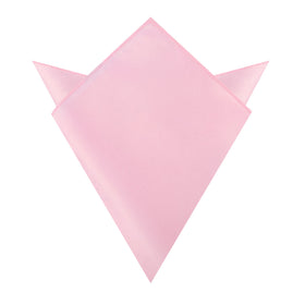Tickled Pink Satin Pocket Square
