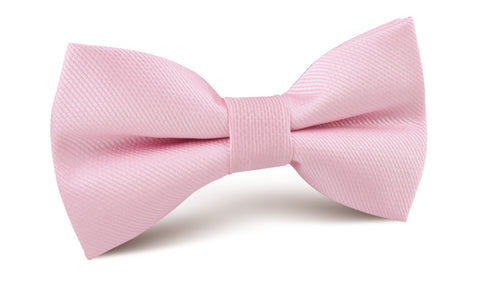 Tickled Pink Weave Bow Tie