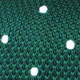 Tiera Green Knitted Tie Fabric