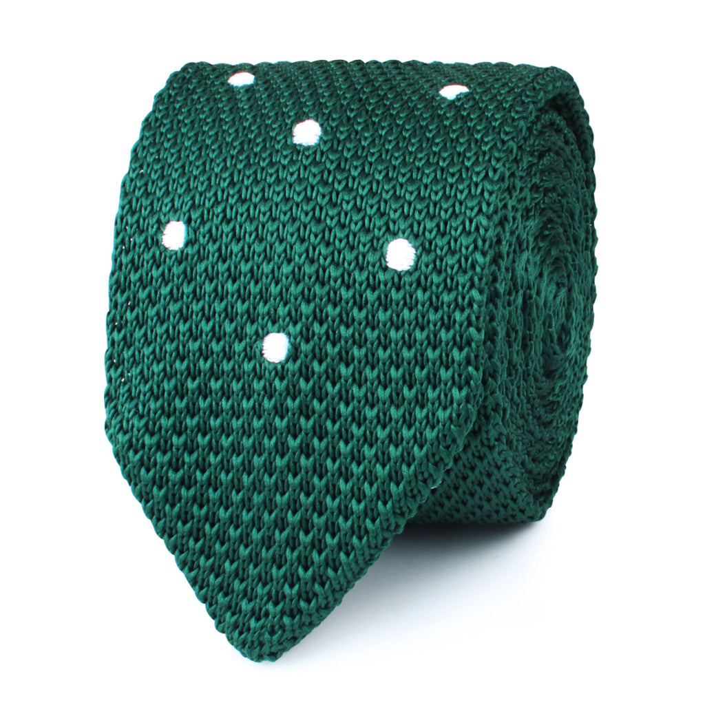 Tiera Green Knitted Tie