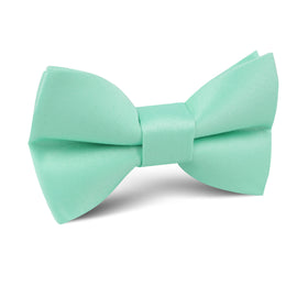Tiffany Turquoise Spa Satin Kids Bow Tie