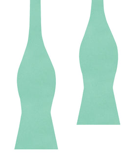 Tiffany Turquoise Spa Satin Self Bow Tie