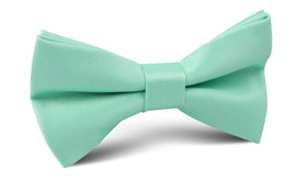 Tiffany Turquoise Spa Satin Bow Tie